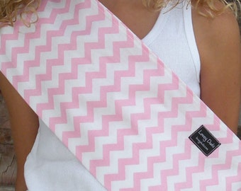 Just Like Mommy Baby Doll Sling-Perfect For American Girl Dolls-Light Pink Chevron-Free Shipping When Purchased With a Wrap