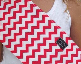 Just Like Mommy Baby Doll Sling-Perfect For American Girl Dolls-Red Chevron-Free Shipping When Purchased With a Wrap