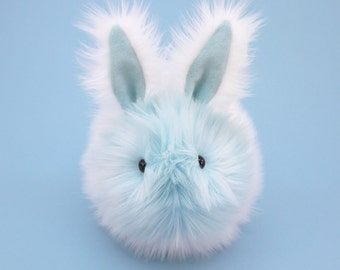 Stuffed Bunny Stuffed Animal Cute Plush Toy Bunny Kawaii Plushie Snowflake the White and Ice Blue Bunny Rabbit Cuddly Toy Large 6x10 Inches
