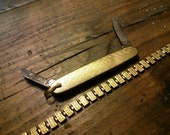Gold Filled Pocket Watch Chain and Pocket Knife Fob