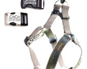 Personalized Lazer Engraved Buckle Dog Harness - 17 Classic Cotton styles to choose from