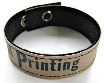 Book Binding Cuff/Bracelet/Bookmark:  General Printing