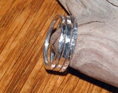 Stacking Rings..Sterling Silver..Hand Forged Rings..Set of Three Extra Wide 2mm Stacking Rings