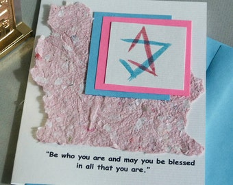 Bat Mitzvah Card or Invitations with Star of David and Quote