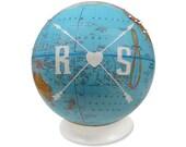 Custom Compass Pushpin Globe