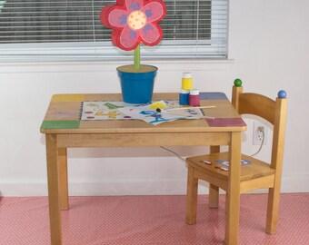 "Splat Mat/Tablecloth ""Priscilla Pink Polka Dots"" - Laminated Cotton BPA  & PVC Free - Choose Your Size below!"