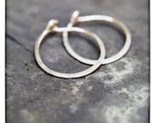 Small everyday sterling hoops