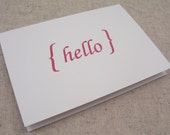 Sale // HELLO Folded Cards // RED