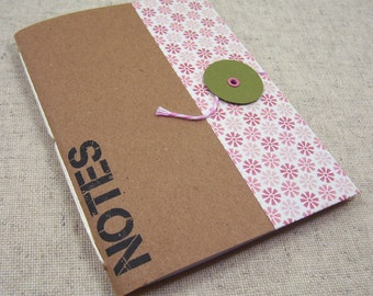 Pocket Mini Notebook // Pink Flowers