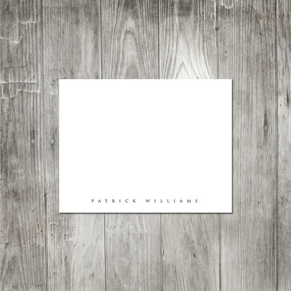 Simply Personalized Folded Notecards