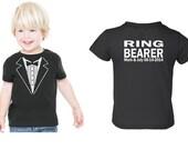 PERSONALIZED Children Wedding Tuxedo RING BEARER Tshirt  Child size Tux  Rehearsal Shirt