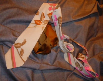 Vintage  Leonard pure Silk Necktie and silk pocket square