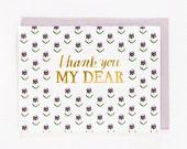 Thank You My Dear Card