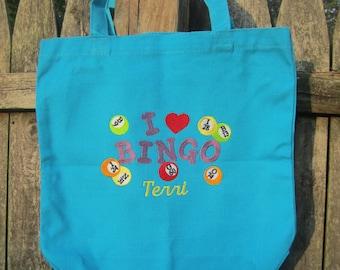 PERSONALIZED BINGO tote bag! Great gift item!