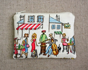 Change Purse / Wallet / Zipper Pouch / Streets of Paris