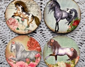 My Pretty Pony -- Whimsical Pony Horse Mousepad Coaster Set