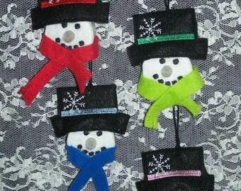 Adorable Snowman Tea Light Ornaments--Set of 4