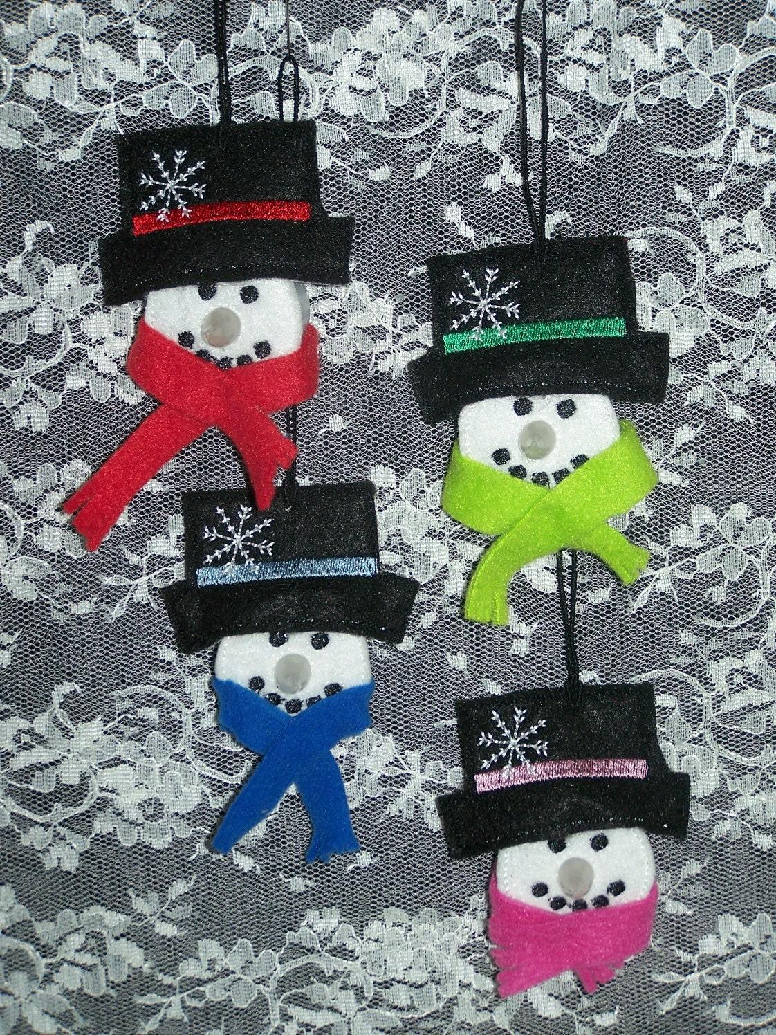 Adorable Snowman Tea Light Ornamentsset Of 4