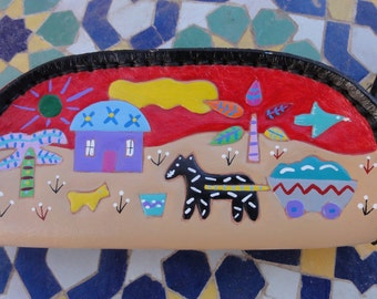 Coin Purse with It Takes a Village Design