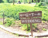 Arrow Wedding Signs Central Park Rustic Outdoor Weddings Hand Painted Reclaimed Wood. Directional Signs. Vintage Weddings Road Signs Barn