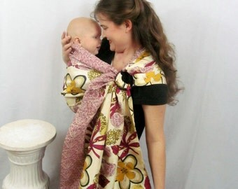 Silk Double Layer Ring Sling - LPK Original Edge - DVD included - WIDE width, special occasion sling, baby sling, baby carrier, silk sling