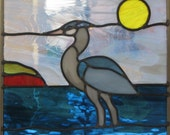 Blue Heron Stained Glass Pattern l
