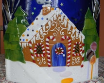 Gingerbread House ~ Fused Glass