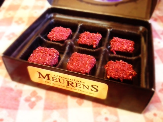 Rum Raspberry Cayenne Pepper Vegan Belgian Chocolate Truffle Praline: The Framboise 6p box