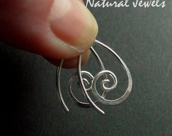 Tiny Silver spirals - Sterling Silver earrings