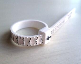 Adjustable Ring Sizer - Plastic - US Ring Sizer - Unisex - White - Ring Sizer