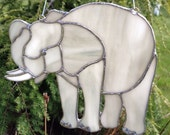 Stained Glass Elephant Suncatcher