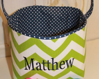 Personalized Easter Baskets Storage Baskets--- MANY fabrics to choose from--- Easter, Personalized Basket, Custom