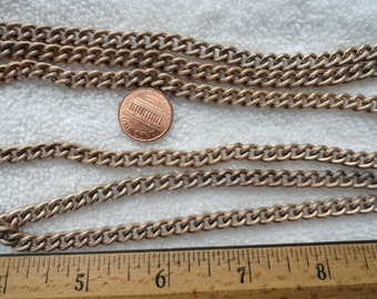6 Feet of Vintage Textured Steel Chain, 6mm x 8mm Links