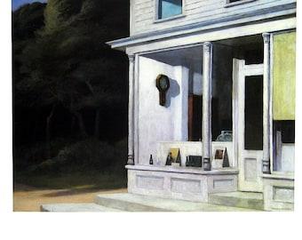 Seven A. M. - Edward Hopper - Fine Art Print - 1985 Vintage Book Page Reproduction - 9 x 12