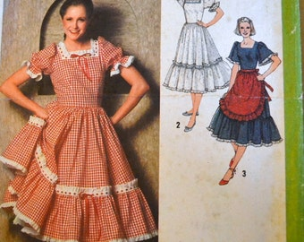 Vintage Sewing Pattern Simplicity  9103 Misses' Dress and Apron  Bust 38 inches Complete