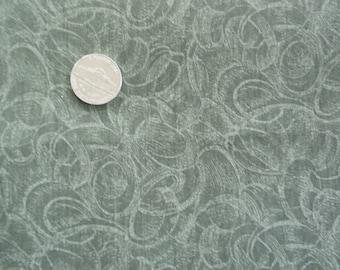 Olive Green Ribbon Fabric - 2 1/3 yards