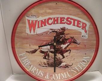 Winchester Firearms & Ammunition Clock