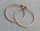14k ROSE GOLD HOOPS large solid rose gold earrings by Crazy Daisy Designs