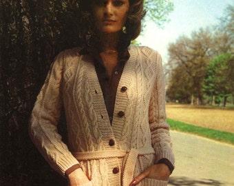 Vintage Ladies Classic Jacket, Knitting Pattern, 1960 (PDF) Pattern, Patons 2445