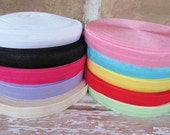 Fold Over Elastic For Baby Headbands 5/8th / 10 Yards of Assorted Colors for Baby Headbands / Hair Ties