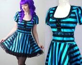 DARK ALICE lace corset lolita dress - handmade to order - smarmyclothes alice in wonderland