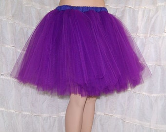 Bright Purple Romance Knee Length TuTu skirt adult All Sizes MTCoffinz