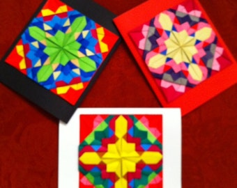MOSAIC Tile QUILTS Origami Art Cards - A