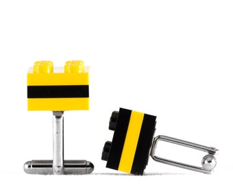 Cufflinks - Pittsburgh Pride - made with LEGO bricks