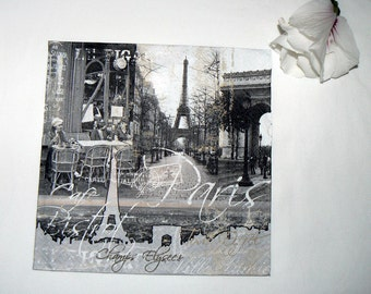 2  Paris  images Napkins from Germany