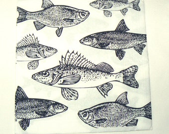 2  images Napkins from Holland Fish