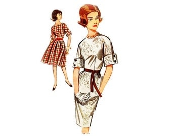 Vintage1960s Dress Pattern, Vintage Sewing Pattern, Sewing Supply, Butterick, Swing Dress Pattern, Party Dress, Fitted Dress, UNCUT, Bust 32