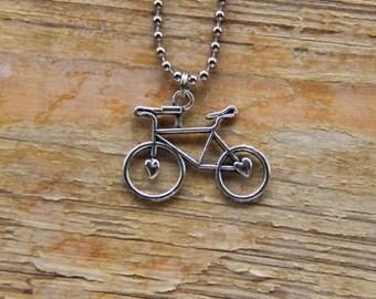 Bike Necklace with sweet silver bike charm