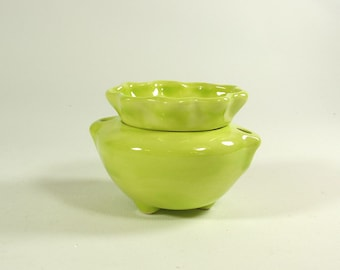 Miniature African Violet Pot Lime Green
