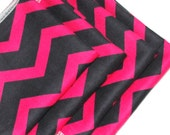 FREE OFFER Child Reusable Cloth Napkins / Wipes - Set of 4- Zigzag Pink